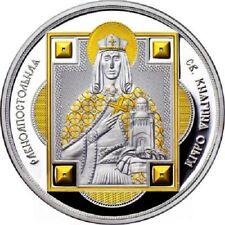 2012 Fiji Large Guilt Silver Proof $10 Saint Princess Olga of Russia-nice box
