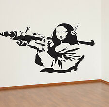 Banksy Wandaufkleber Mona Lisa Aufkleber Kunst BA25
