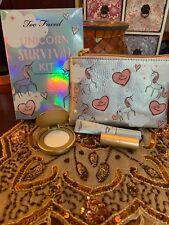 Too Faced Unicorn Survival Kit Highlighter And Lip Set (unicorn Tears!!!)