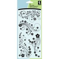 Modern Flower Flourish Clear Acrylic Stamp Set by Inkadinkado 60-30380 NEW!