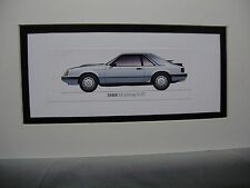 1986  Ford Mustang SVO  From  50 Year Anniversary Exhibit by artist