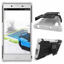 Etui Hybride 2 pièces Extérieur Blanc Housse Étui pour Sony Xperia XZ F8331