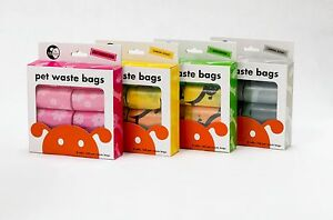 Lola Bean 8-pk Waste Pick Up Poop Bags for Dogs Cats Refill Rolls 160ct total