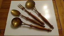 Antico Vintage decorativi in LEGNO e OTTONE CASCINA strumenti da cucina.