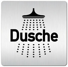 "Aluminium Schild ""Dusche"" 125 x 125 mm • Damen • Tür • WC • Toilette • Türschild"