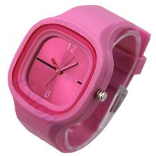 Colorful Square Jelly Silicone Quartz Wrist Candy Watch UnisexGift Casual Sports