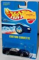 Hot Wheels Custom Corvette Chevy UH's Blue Card Collector #200 Malaysia 1995