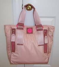 NWT Juicy Couture POP LOCK Nylon XL Tote Bag PINK
