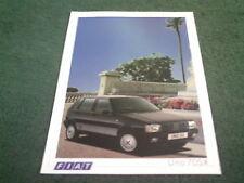 1987 FIAT UNO 70 SX UK COLOUR SINGLE SHEET - BROCHURE