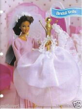"Fashion Doll Crochet Pattern ""BRIDAL VEILS""  ~ 3 patterns"