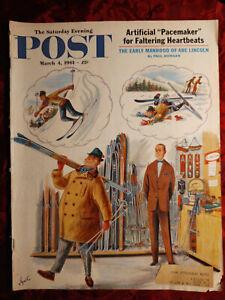 Saturday Evening POST Magazine March 4 1961 ALAJALOV JACK SCHAEFER