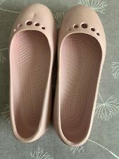 Girls Soft Pink Crocs Size 4 ( More Of A 2/3 As Come Up Small