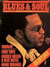 J J Barnes Blues & Soul Issue 132 1974   War  The Four Tops  Manu Dibango Reggae