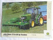 John Deere 72 to 88HP 5020 Series Tractors brochure Sep 2003 English text