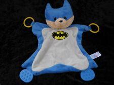 Baby Gund Batman Malone Blue Gray Lovey Security Blanket Teether Rings 4048723