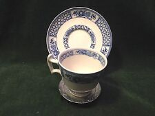 Booth's Nankin Pattern Silicon China Demitasse cup and saucer-blue & white