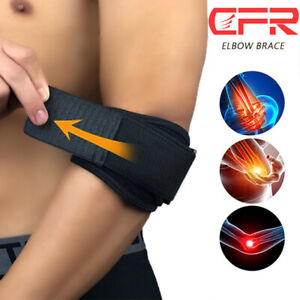 Tennis Elbow Brace Strap Tendonitis Golfers Gel Band Golf Pain Relief Support HB
