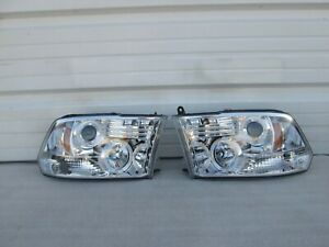 2009-2018 Dodge Ram 1500 2500 3500 LEFT & RIGHT LED Headlight Set Chrome Pair
