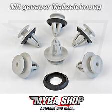 10x Verkleidung Befestigungs Clips + Dichtung für VW Skoda Porsche | 7M0867299K