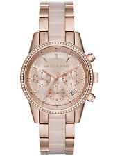 MICHAEL KORS RITZ LADIES WATCH MK6307 - BLUSH DIAL ROSE GOLD TONE - BRAND NEW