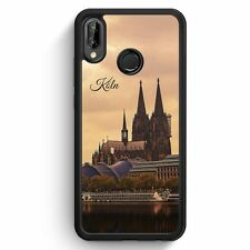 Huawei p20 Lite SILICONE HOUSSE Panorama Cologne Cologne DOM Motif Design Skyline SIL