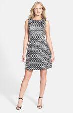 Donna Ricco Two-Tone Jacquard Dress Size 6P