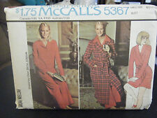 McCall's 5367 Misses Robe & Pajamas Pattern - Size XL (22-24) Bust 44-46