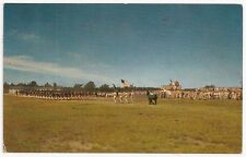 Camp Drum NEW YORK ~TROOPS PASSING IN REVIEW ~ US Army Postcard