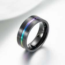 Man&Women Stainless Steel Titanium Wedding Engagement Ring Band Cool Size 6-13