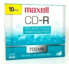 Maxell CD-R Media With Jewel Cases 700MB/80 Minutes Pack Of10 damaged package A3