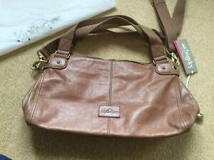 New Kipling Vintage Leather Caramel Handbag