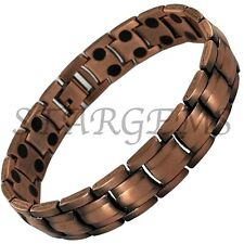 MENS MAGNETIC BRACELET ARTHRITIS PAIN RELIEF HIGH STRENGTH GIFT COPPER HEALING