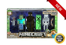NEW Minecraft Figure Zombie Enderman (4 Pack) Hostile Mobs! Kids Toy Fun