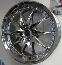 17x7 Pacer Starburst Chrome Wheel 4x100 high offset