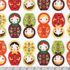 Robert Kaufman Little Kukla Matryoshka Russia Doll Nature Fabric