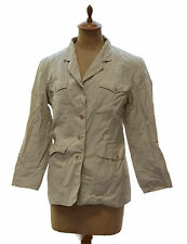Vintage BANANA REPUBLIC Womens Tan Cotton Safari Military Jacket Hong Kong Sz 8
