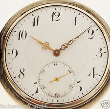 ZENITH TASCHENUHR / POCKET WATCH - IN 800er SILBER - ALTER: um 1900