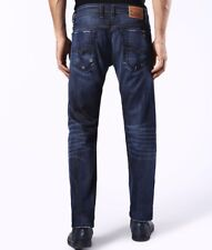 NWT DIESEL Sz40X34 VIKER STRAIGHT-LEG STRETCH JEANS U831Q BLUE MADE IN USA $198