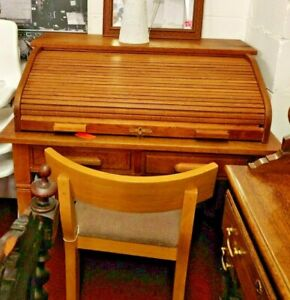 Roll Top Oak Desk (1782) **Offer Price**