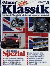 Motor Klassik 1986 5/86 Triumph TR 5 PI DB 4 Vantage Lotus Elan S Midget Sprite