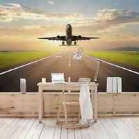 Vlies Tapete Premium Startendes Flugzeug Foto Tapete XXL Breit Wand Deko Tapete
