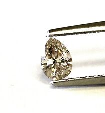 GIA certified pear shape diamond .54ct N light brown I1 6.42x4.65x2.93mm estate