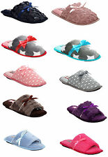 NEW WOMENS LADIES FURRY COMFY COSY HOUSE KITCHEN FLAT MULE WARM SLIPPERS SIZE UK