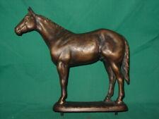 Bronze Horse Sculpture Statue Artist Signed Suzann Fiedler AQHA Presentation