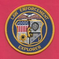 C16 * LAW ENFORCEMENT EXPLORER AGENCY POLICE PATCH FEDERAL STATE COUNTY CITY BSA