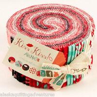 "Moda FABRIC Jelly Roll ~ KISS KISS ~ by Abi Hall 40 - 2 1/2"" Strips"