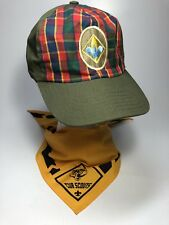 f2f448efbd3 Boy Scouts of America BSA Webelos Hat M L And Yellow Neckerchief Set