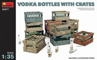 1:35 scale model kit - Vodka Bottles with Crates MIN35577 Miniart