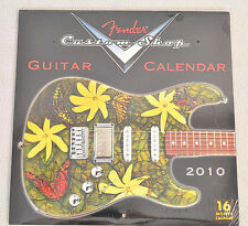 NEW!!! FENDER 2010 CALENDAR / Posters Custom Shop Photos 16 Month 12 x 12 closed