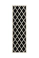 Flachflor Teppich Arabesque Teppiche Scandic Design Schwarz Läufer 80x250 cm